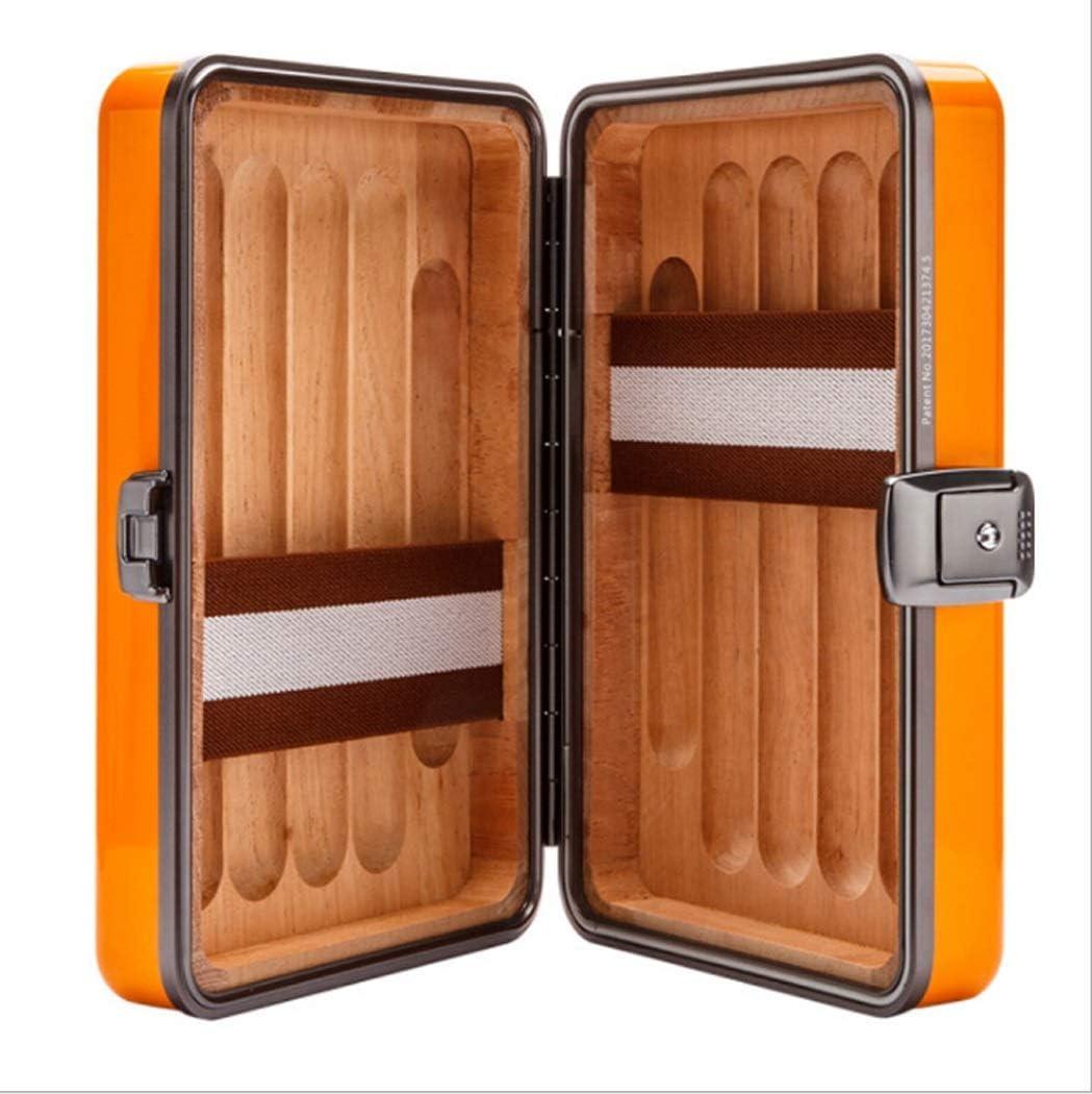 Caja de cigarros Humidor de cedro de madera de aluminio-magnesio ...