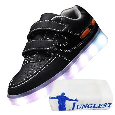 c1 EU 33,[+Kleines Handtuch] Sportschuhe leuchtende USB Licht Schuhmädchenschuh weise emittierende Junge Schuhe Lade großer beleuchtete Kinderschuhe
