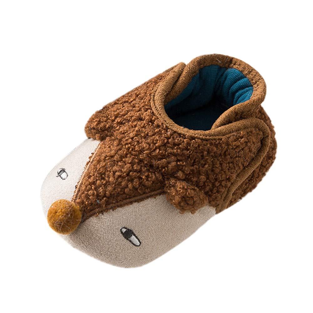 Muium Children Baby Cartoon Cute Boots Kids Boys Girls Winter Warm Hedgehog Shoes for 0-3 Years Old