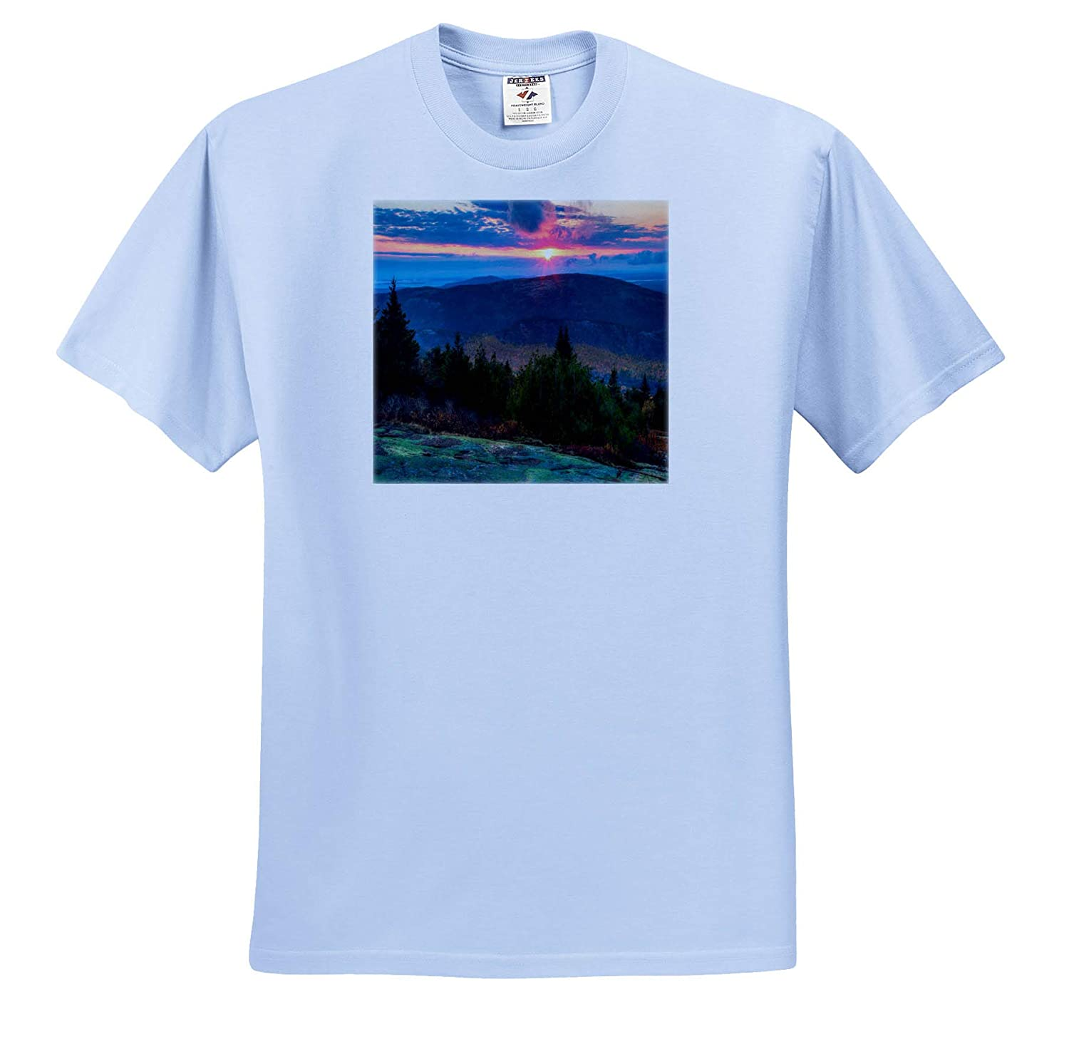 Adult T-Shirt XL ts/_317155 Landscapes 3dRose Mike Swindle Photography Mountain Sunset in Fall