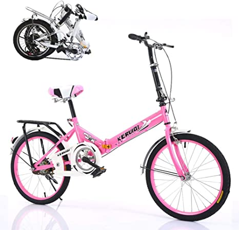 TopJiä 20 Pulgadas Unisex Bicicleta Plegable,Ligero Adulto Bicicleta De Ciudad,Velocidad única Portátil Bicicleta De Carretera para Ciudad Urbana Street Al Aire Libre Deporte: Amazon.es: Deportes y aire libre