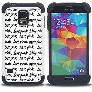King Case - love pink stay text repetitive black white - Cubierta de la caja protectora completa h???¡¯???€????€?????brido Body Armor Protecci&At