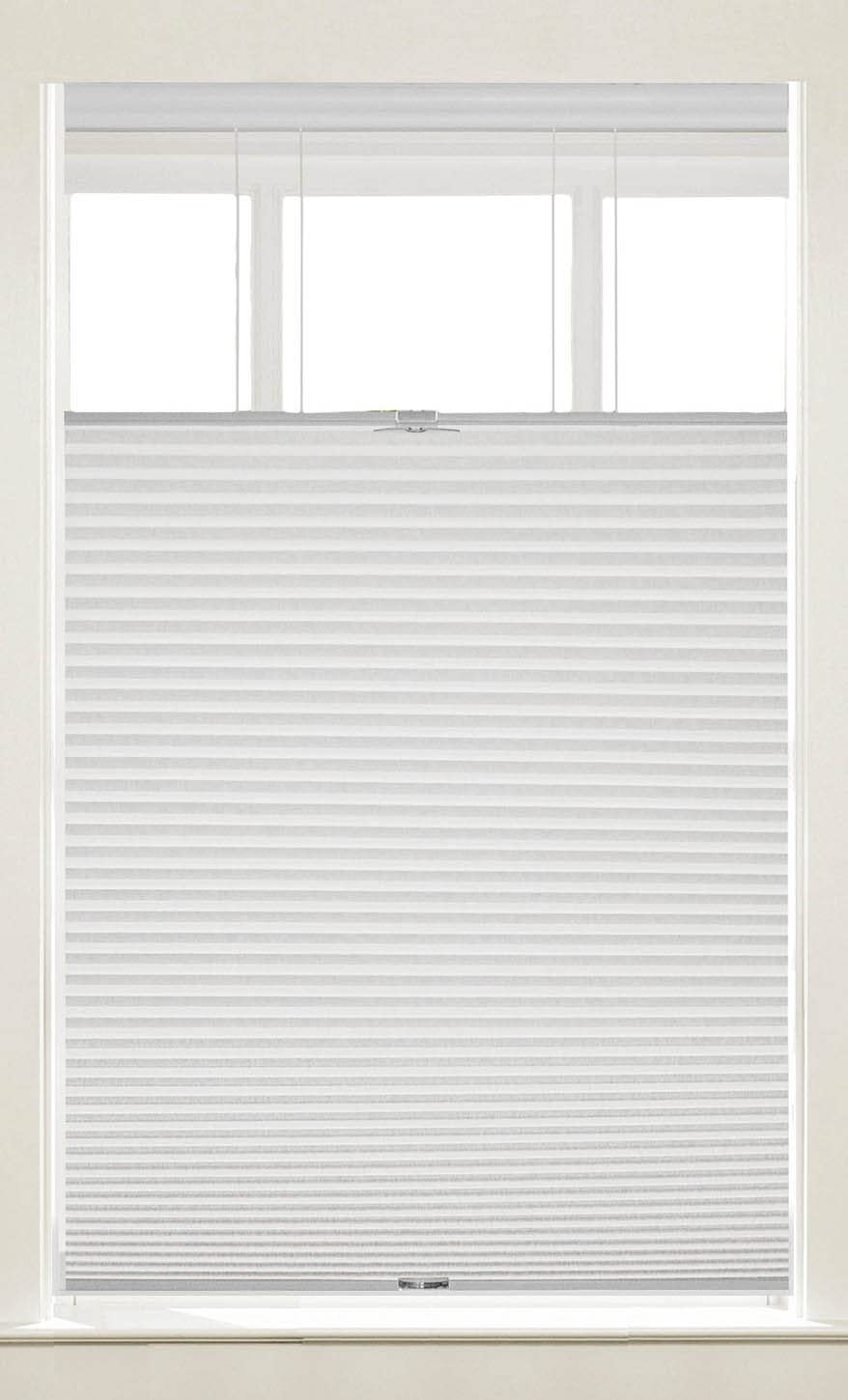 PowerSellerUSA Cordless Window Blinds Cellular Top-Down Bottom-Up Honeycomb Pleated 3/8″ Light Filtering Window Shades White