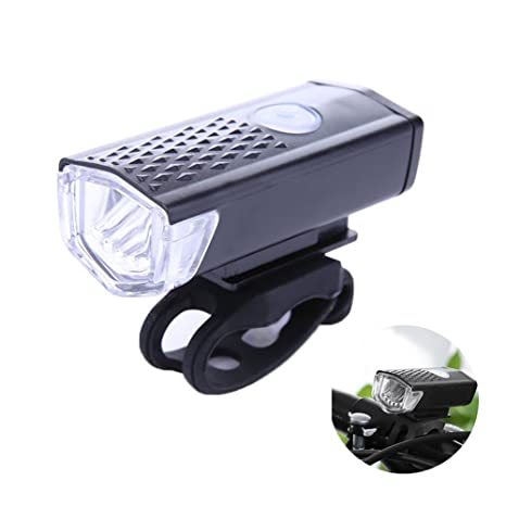 Waterproof USB Rechargeable LED Bike Bicycle Cycling Front Light Lamp Headlight