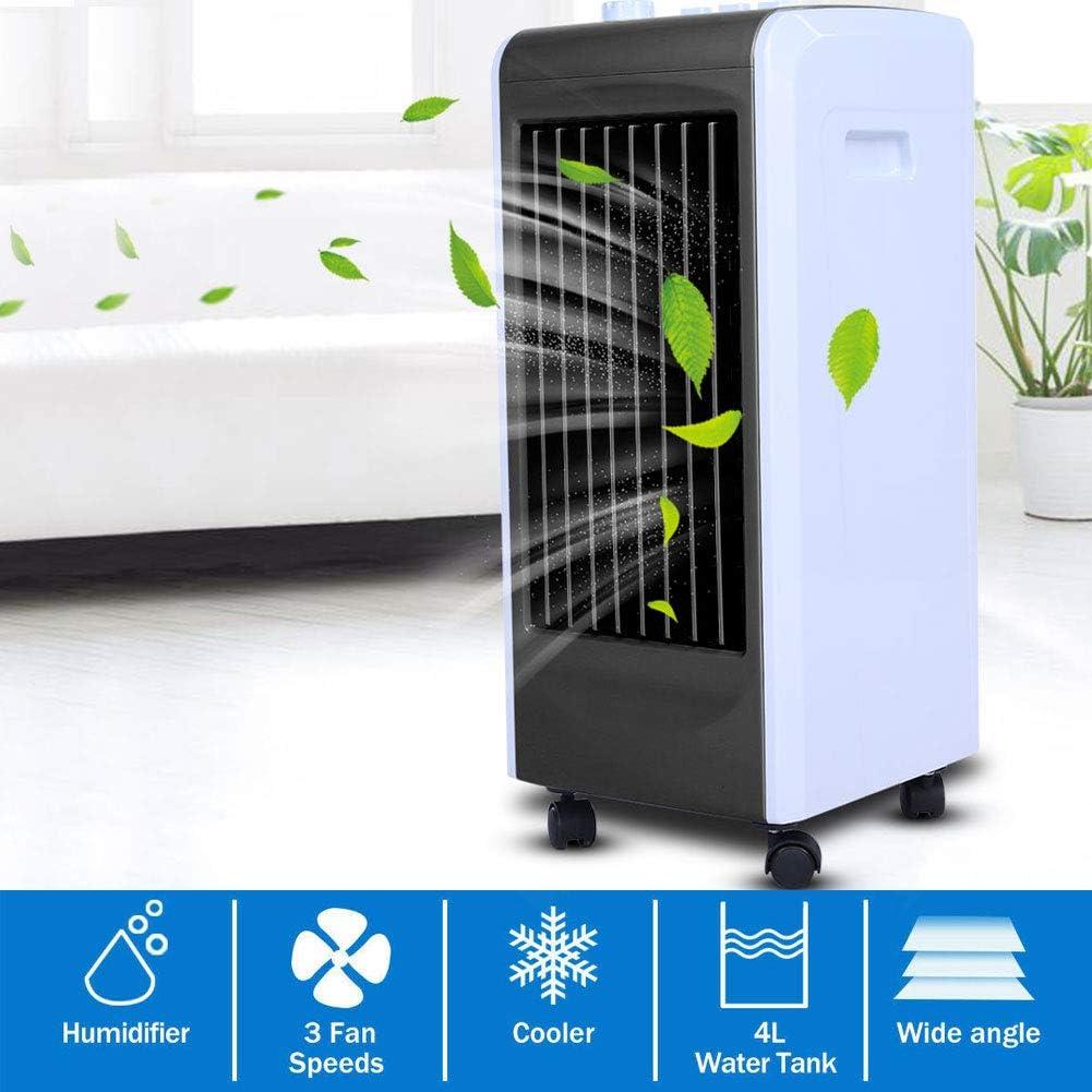 GOTOTP Aire Acondicionado Portatil Ventilador con Humidificador Climatizador Frio con Control Remoto Bajo Consumo de Energ/ía 75 x 40 x 30cm