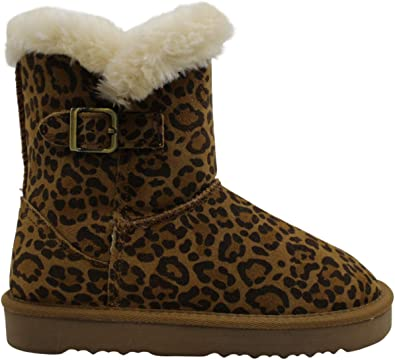 Suede Faux Fur Lined Winter Boots