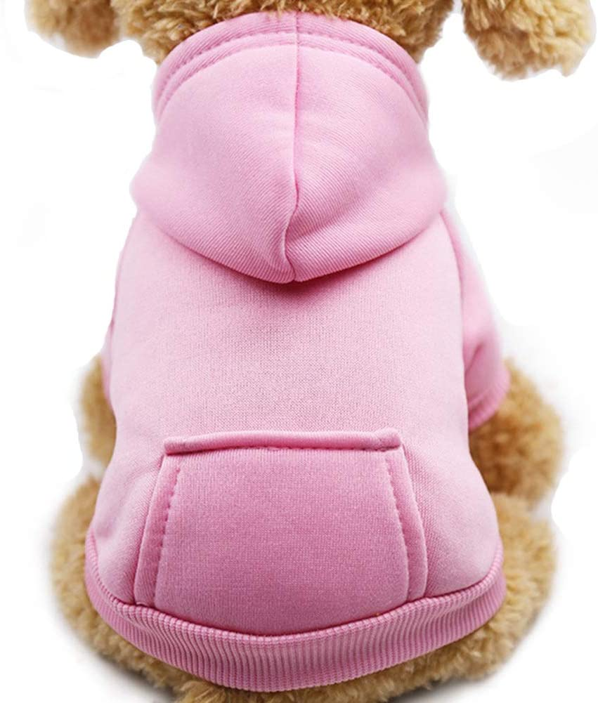 Fashion Focus On New Winter Dog Hoodie Sweatshirts with Pockets Cotton Warm Dog Clothes for Small Dogs Chihuahua Coat Clothing Puppy Cat Custume