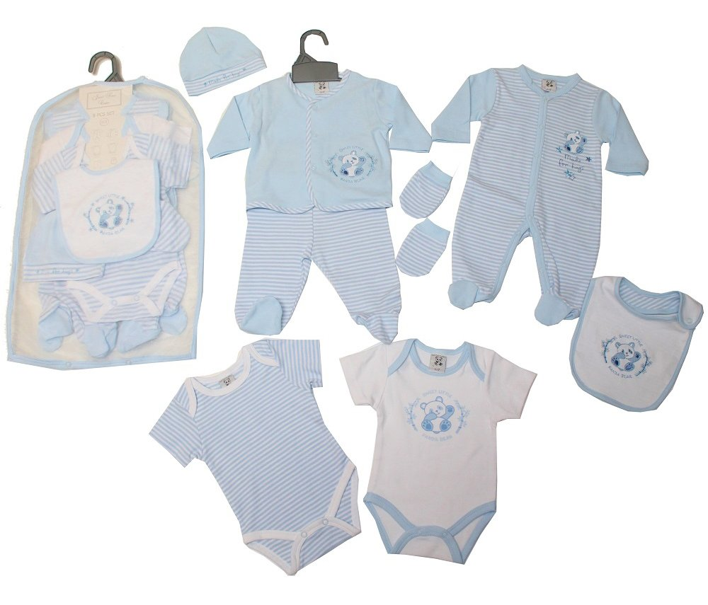 Baby Boys 5 Piece Layette Set /& Gift Bag Dinosaur Outfit NEW Starter Clothes