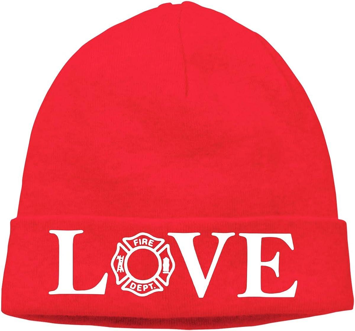 Love Firefighter Men /& Women Knit Beanie Cap Skull Cap