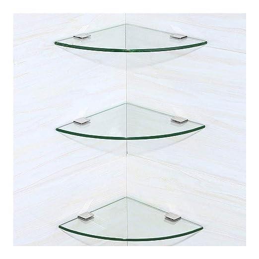 Shelf Toallero de Esquina con estantes de Cristal Templado ...