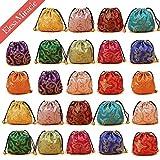 Kyпить Elesa Miracle 24pcs Silk Brocade Jewelry Pouch Bag, Drawstring Coin Purse, Gift Bag Value Set на Amazon.com