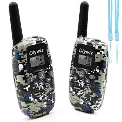 Olywiz Camouflage Walkie Talkies for Boys Girls Pair | Kids Walkie Talkies Toys for 4-12 Years Old | Easy to Use Loud&Clear with Lanyard and Flashlight: Toys & Games