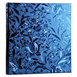 Nizzco Leather Frame Cover Photo Album 600 Pockets Hold 4x6 Photos(Gem blue)