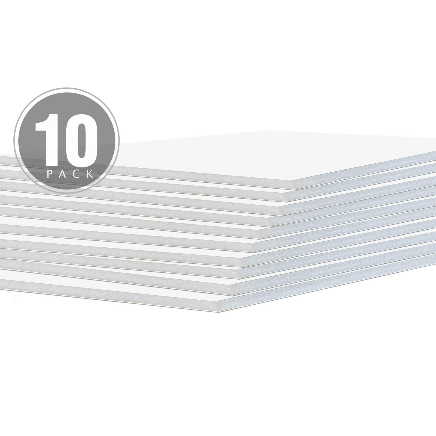 Pack of 50 8x10 1//8 White Foam Core Backings