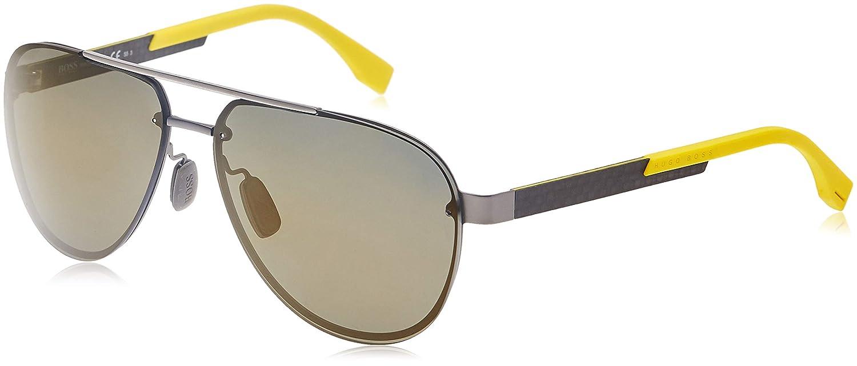 Hugo Boss Boss 0811/F/S HJ HXR Gafas de sol, Gris (Mtdkrut Carb/Gun Metal Fl), 64 Unisex-Adulto