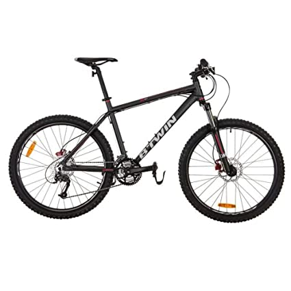 554afa7c8 Buy Btwin Rockrider 520 Mountain Bike (Black   Red) Online at Low Prices in  India - Amazon.in