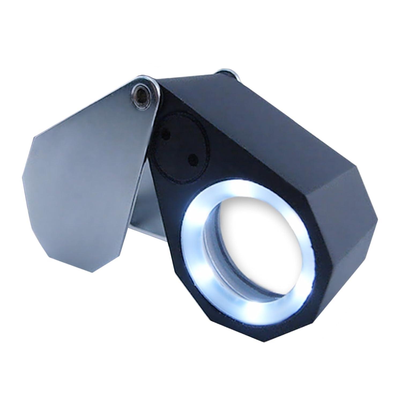 21 X mm de joyero Lupa 10 X 21 Lupa con LED y luz UV aa53b7