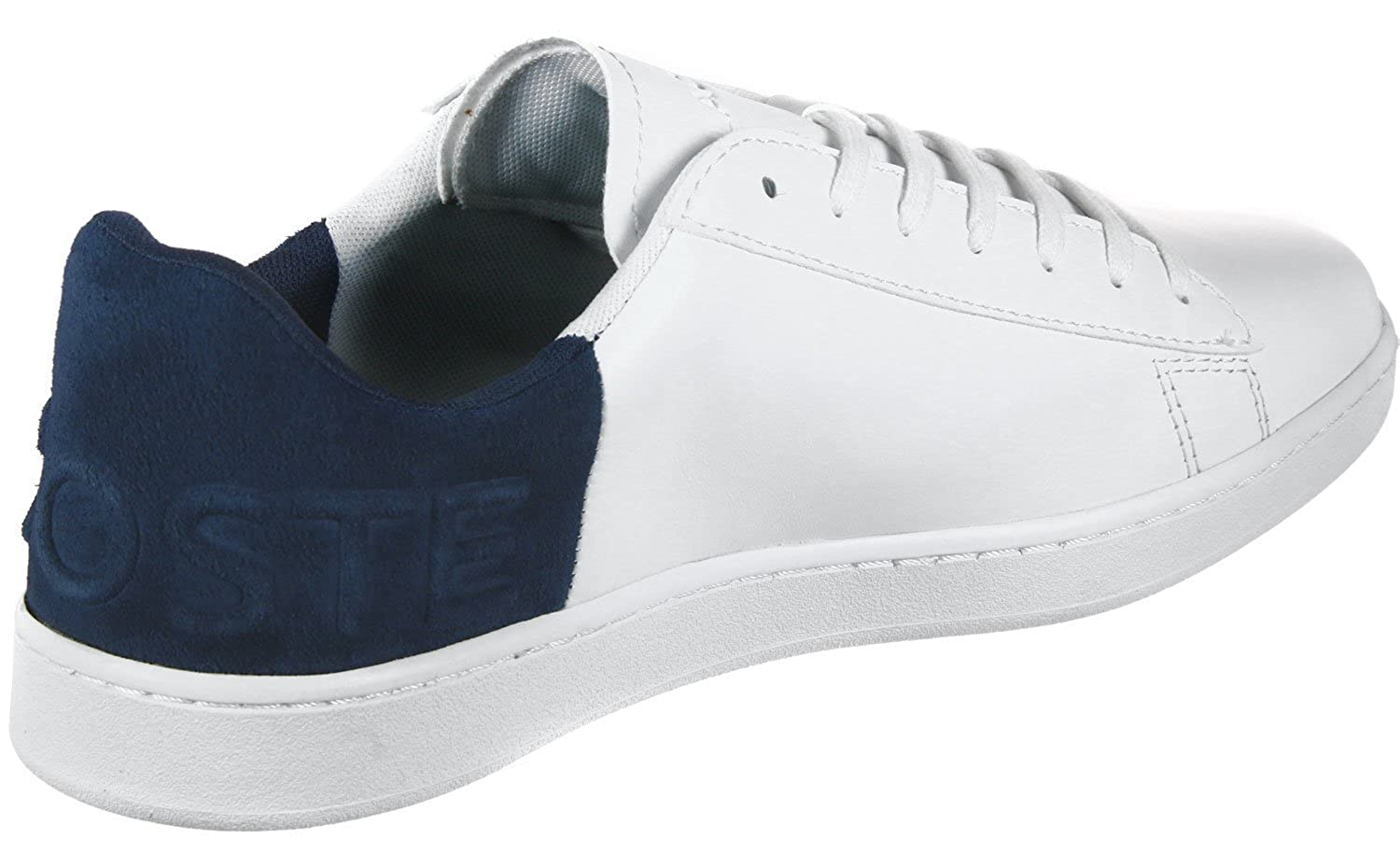 0bf0068d9 Lacoste Carnaby EVO 318 2 QSP Trainers in White   Navy Blue 736SPM0044 042   UK 12 EU 47   Amazon.co.uk  Shoes   Bags