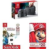 Amazon Price History for:Nintendo Switch - Gray Joy-Con + SanDisk 64GB microSDXC UHS-I card + eCash - Nintendo eShop Gift Card $20 bundle