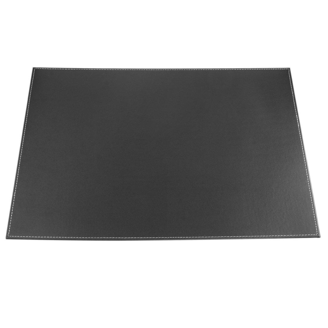 Sottomano, Lommer Cuoio colore solido scrittura regolare Pad Desk Protector--nero