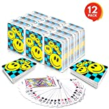 """Gamie Mini Smiley Playing Cards Deck (Pack of 12) 
