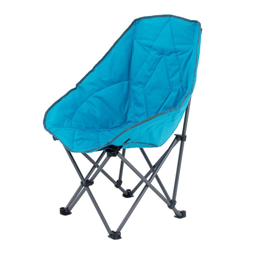 Anna Kletterstuhl Klappstuhl im Freien Gesteppter Lehnsessel-beiläufiger fauler Stuhl-Sofa Portable Sun-Ruhesessel-Ausflug-Reisestuhl 112kg Grün und Blau (Farbe : Blau)