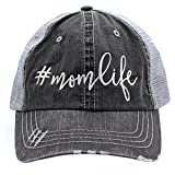 # mom life Embroidered Trucker Style Hats & Caps Front Embroidered design Made in USA Back adjustable closure Can be precious gift for wife, sister or mother.