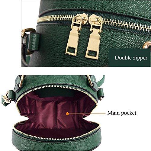 PU diagonale tracolla spalla a donna One JIANFCR da size verde seasons Verde all casual Colore con in Rosso tracolla a stampa Borsa rossa borsa viola Dimensione wO77qI5x