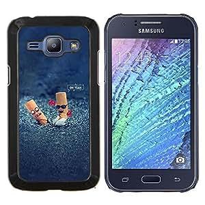 YiPhone /// Prima de resorte delgada de la cubierta del caso de Shell Armor - Colillas divertido Steet - Samsung Galaxy J1 J100