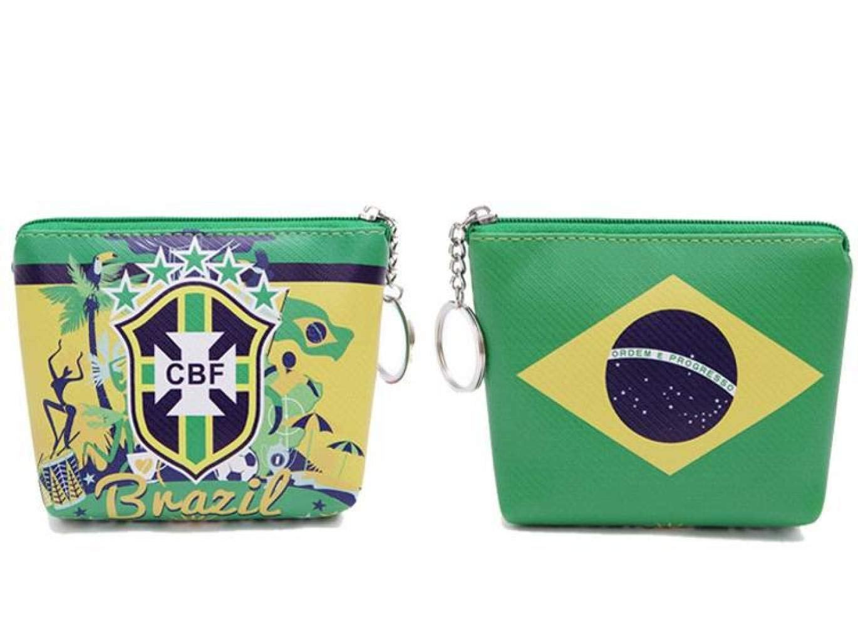 WEII Billetera Logotipo del Equipo de fútbol Nacional Monedero Monedero Creativo Monedero de fútbol: Amazon.es: Deportes y aire libre