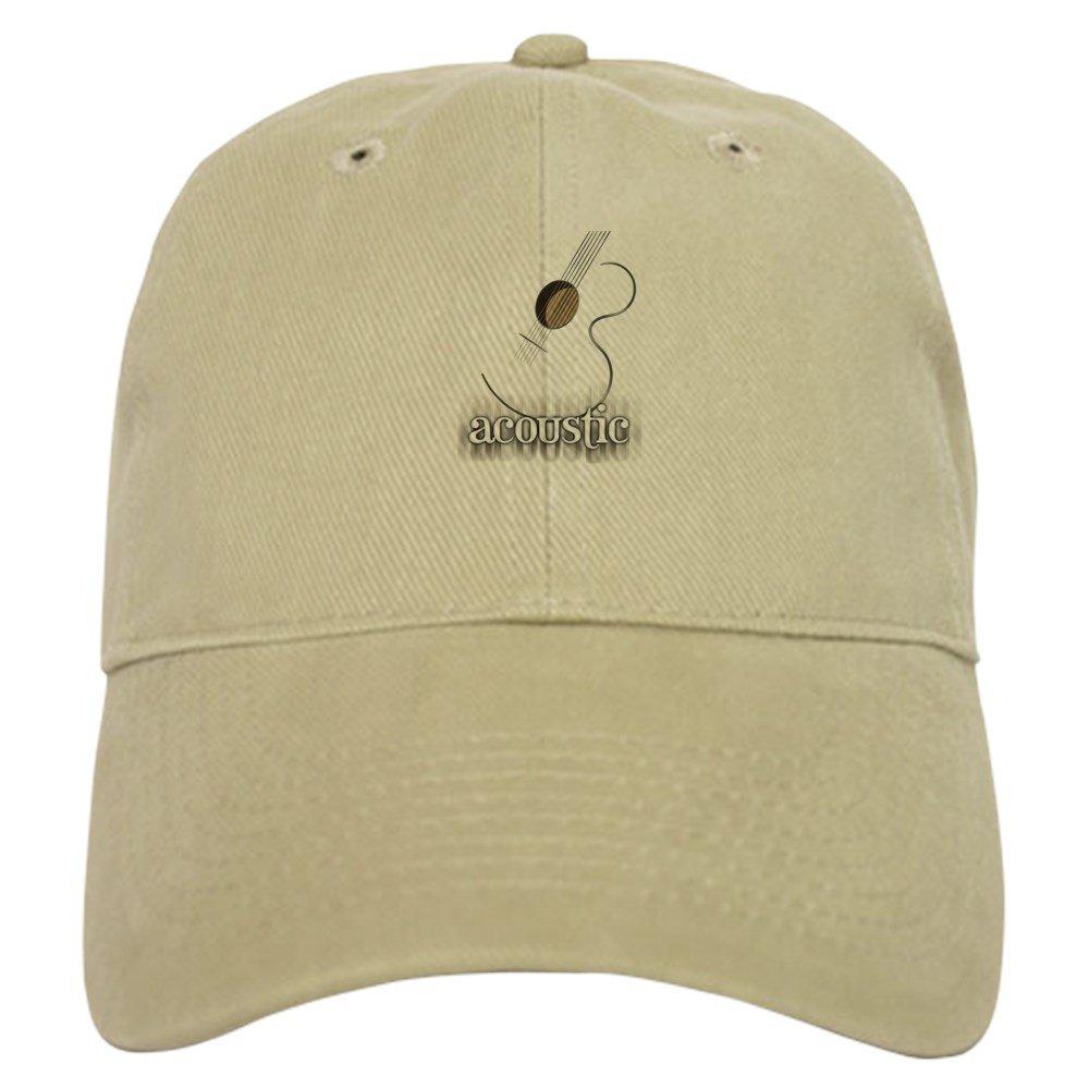 b6416dcbf6b Amazon.com  CafePress - Acoustic Guitar Logo Cap - Baseball Cap with  Adjustable Closure