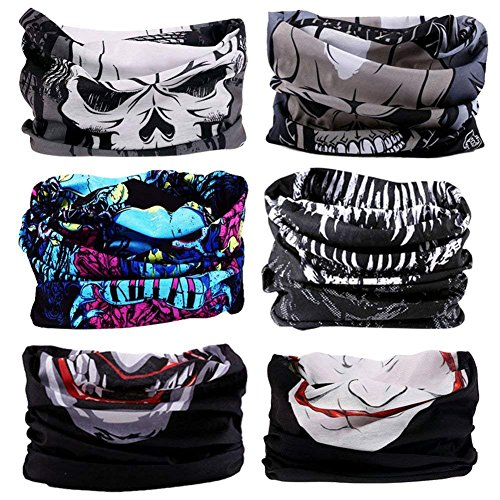 Headband Headwear Head Wrap Bandana Sport - 6PCS Magic Seamless Scarf Wide Hairbands Elastic Tube Face Mask Neck Gaiter UV Resistence Outdoor Workout