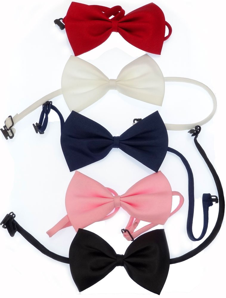 Subtle Addition Little Boys Bow Tie Set for Boys & Girls, Adjustable, 5 Pack (One Size, Skinny Ties Set 1)