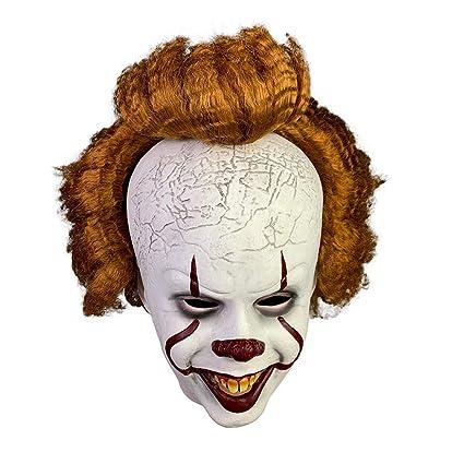 Máscara de payaso Disfraz de Halloween Pennywise Scary Cosplay ...