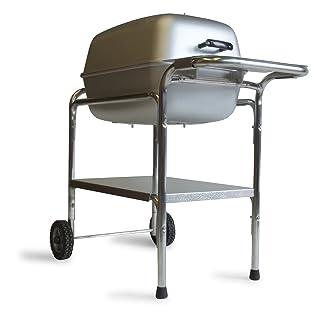PK Grill Charcoal Grill Smoker Combo, Silver (PK99740)