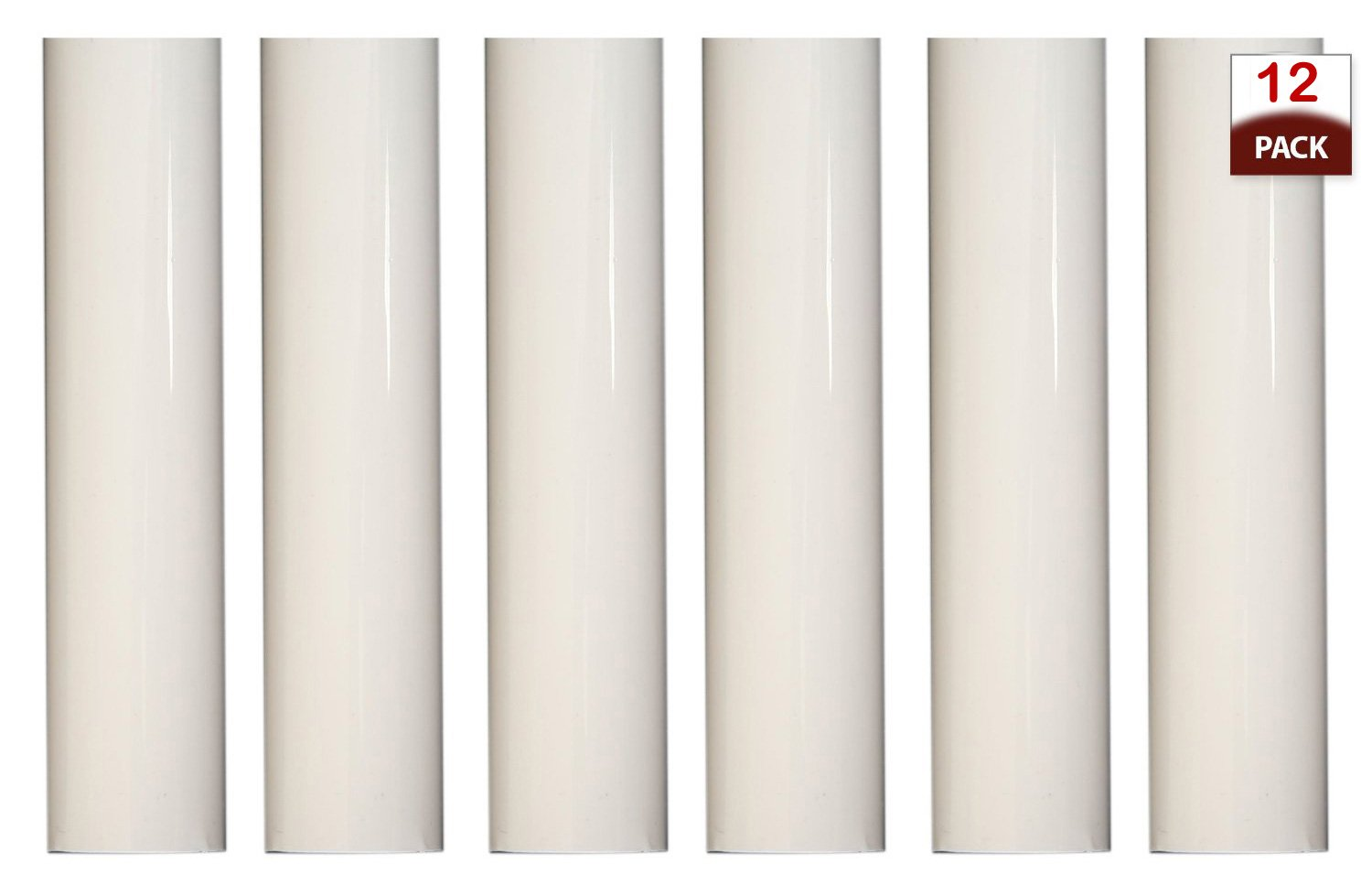 6 Inch Tall White Plastic Candle Covers Sleeves Chandelier Socket Covers ~Candelabra Base 1752 Creative Hobbies Set of 12