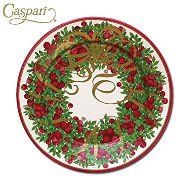 Caspari Paper Plates 9460DP Ribbon Wreath Dinner Plates  sc 1 st  Amazon UK : caspari paper plates - Pezcame.Com