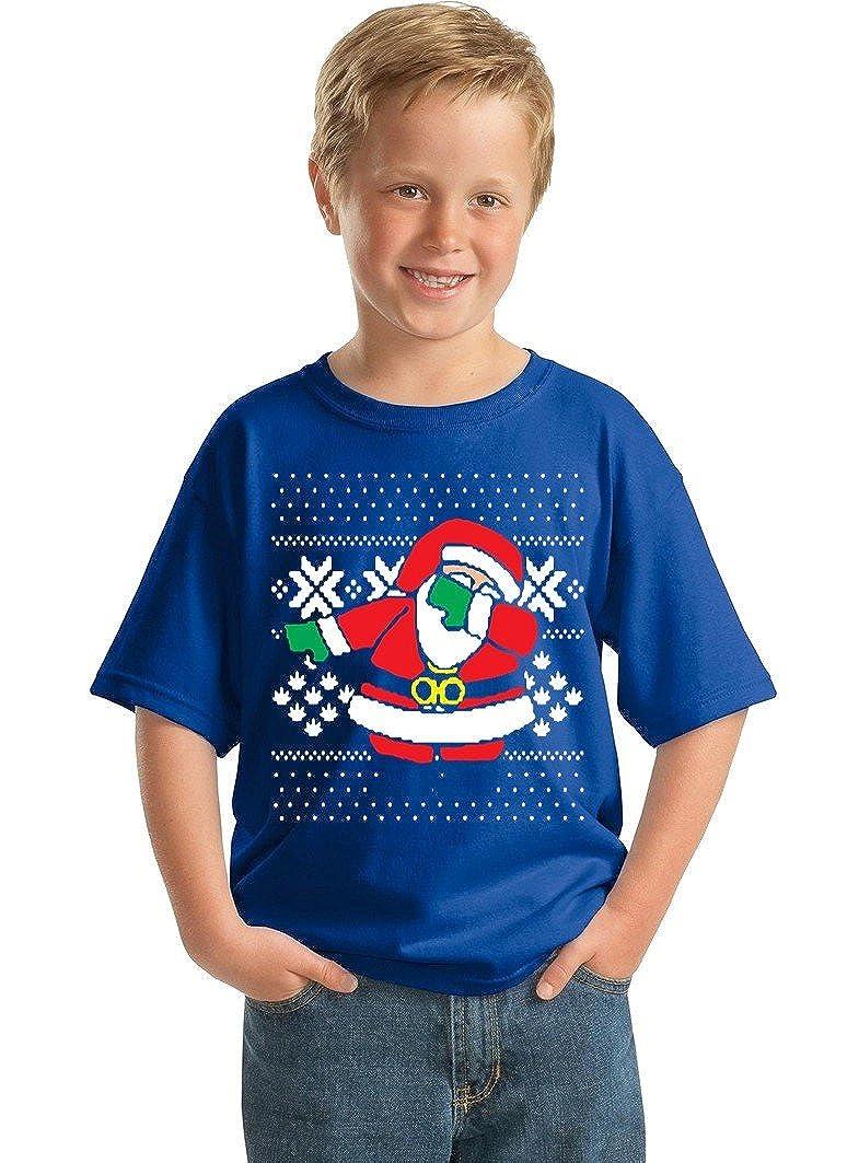 Promotion & Beyond P&B Kid's Dabbing Santa Ugly Christmas Youth T-Shirt