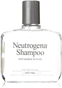 Neutrogena Anti-Residue Shampoo, Gentle Non-Irritating Clarifying Shampoo to Remove Hair Build-Up & Residue, 6 fl. oz (Pack of 3)