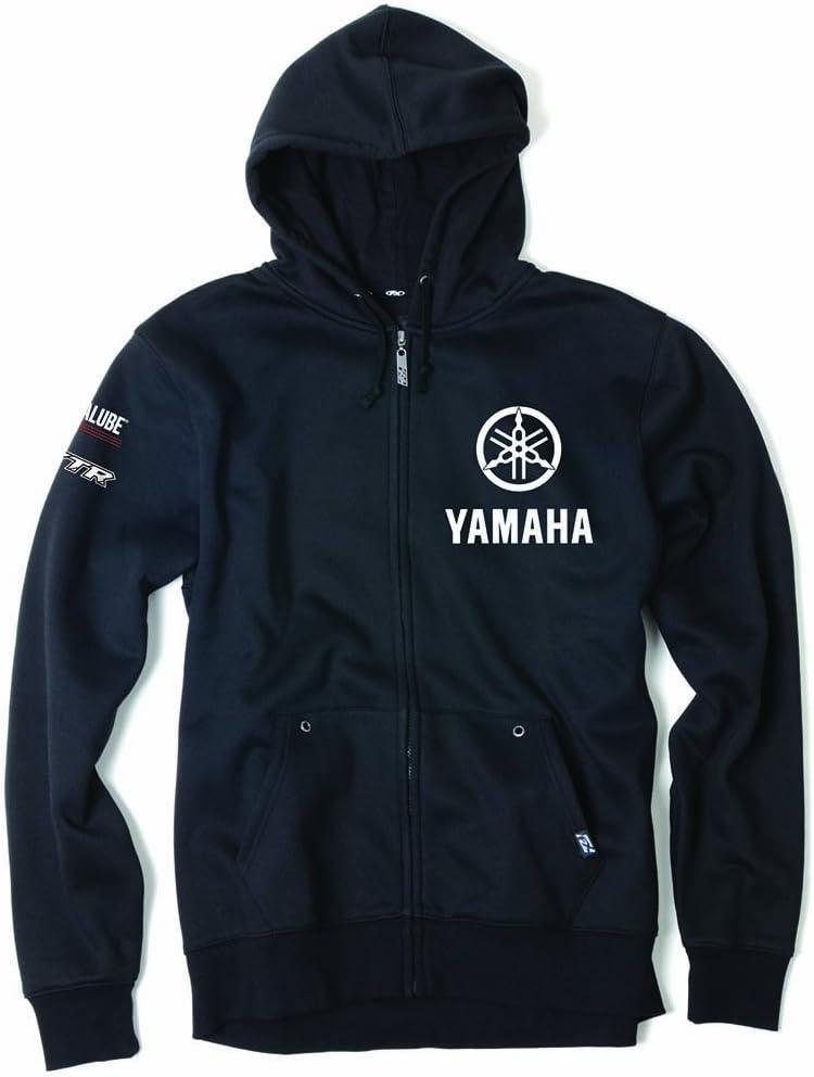 Factory Effex 16-88256 YAMAHA Tuning Fork Zip-Up Sweatshirt Black, X-Large