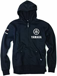 Factory Effex 16-88256 'Yamaha' Tuning Fork Zip-Up Sweatshirt (Black, X-Large)