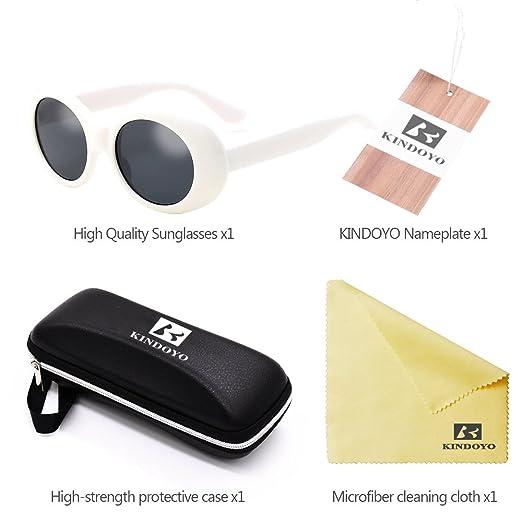BOZEVON Rétro UV400 Femmes & Hommes ovale Lunettes de soleil Goggles Blanc-Noir C1 cxfoLHy