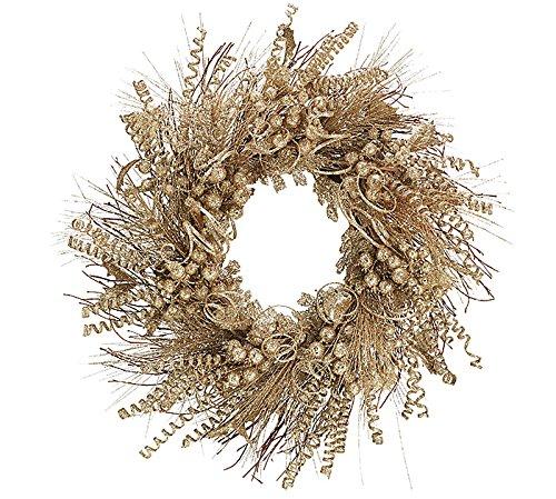 Golden Champagne Glitter Wreath