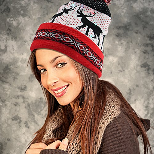 EZGO-Light-Up-Hat-With-10-colorful-Lights-Unisex-Knitted-Light-Hat-With-Sika-Deer-Printing-For-Party-Christmas-Gifts-Sports-Walking-Jogging-Bicycling