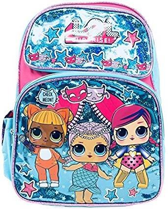 L.O.L Surprise! Large School Backpack 16' Book Bag Blue LOL bag New lol Ruz