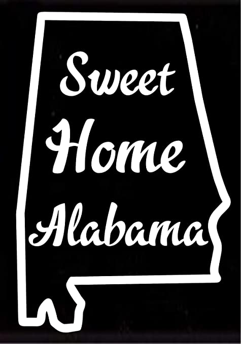 Amazon Com Alabama State Sweet Home Alabama Vehicle Decal Sticker Decor 7 W X 11 T Home Kitchen