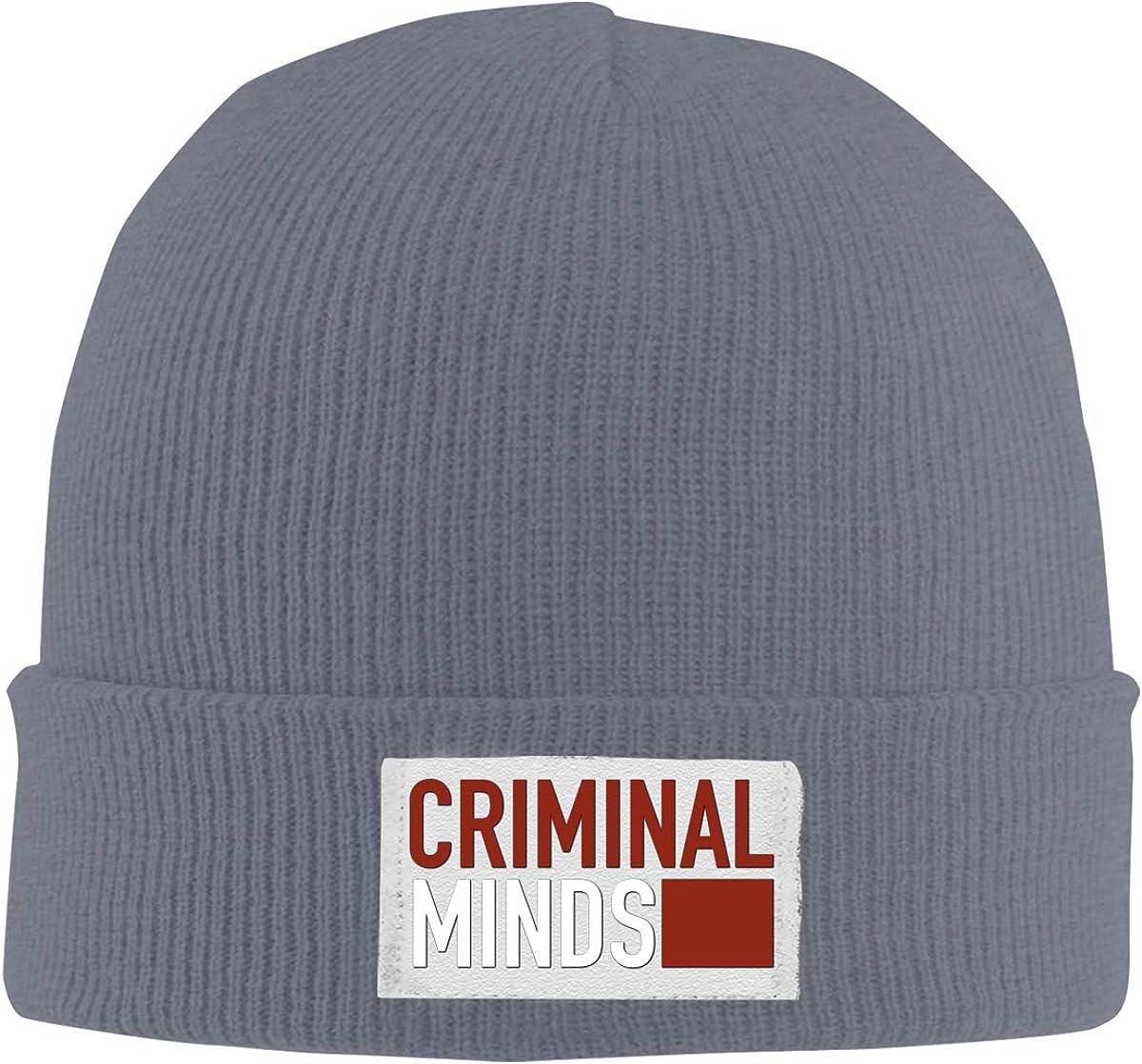 Dunpaiaa Skull Caps Criminal Minds Winter Warm Knit Hats Stretchy Cuff Beanie Hat Black