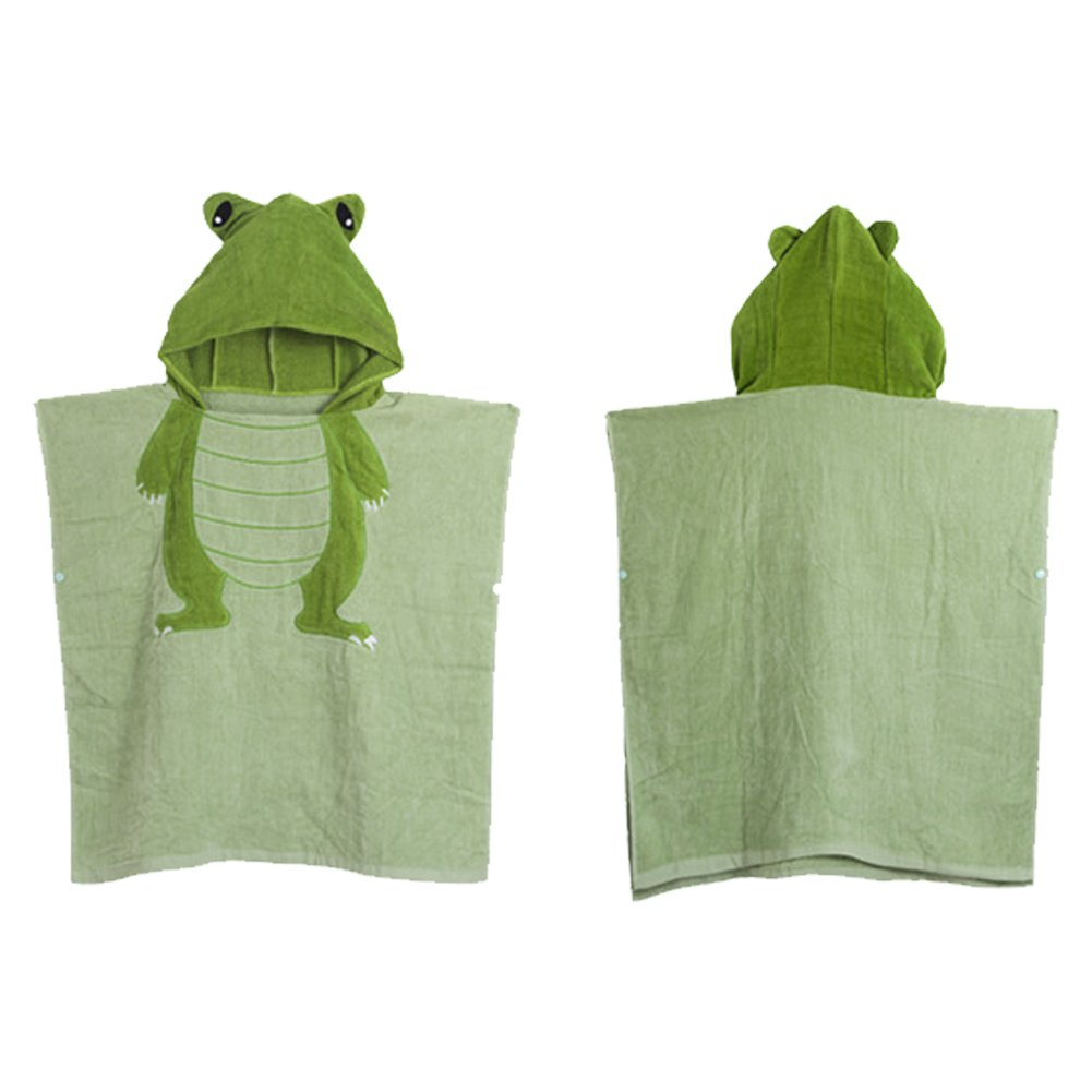 Kids Cartoon Hooded Cotton Robe Cloak Animal Bath Towel Embroidery Bathrobes
