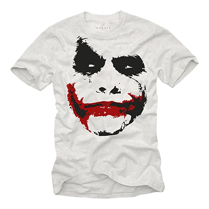 MAKAYA Camiseta Joker Hombre  Amazon.es  Ropa y accesorios e4341e31fff54