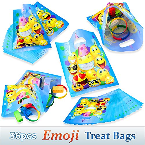 Good Emoji Treat Bags For Childrens Birthday Party Favors 36pcs